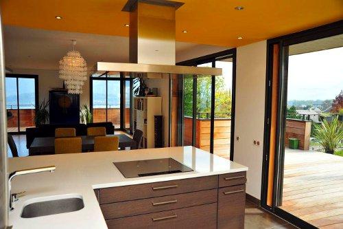 Cozinha contempor�nea em amarelo