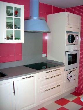 Cozinha cl�ssica em tons de rosa