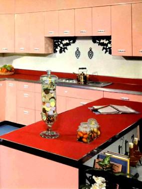 Conjugando v�rios tons de rosa numa cozinha