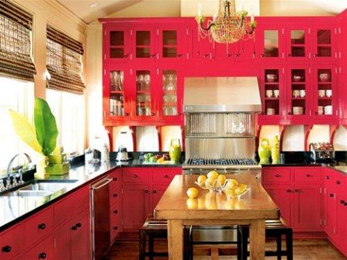 Cozinha r�stica cor de rosa