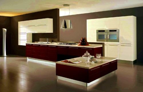 Cozinha moderna de luxo