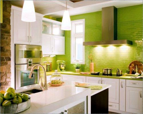 Ideias para decoração de cozinhas verdes