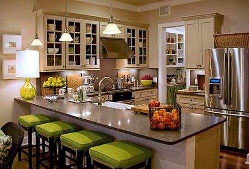 Cozinhas modernas em verde