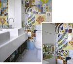 Azulejos decorados para o chão da cozinha