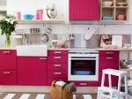 Decoração rosa para cozinha