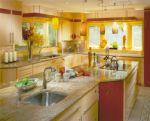 Decorar a cozinha com tons de amarelo