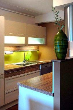 Elementos decoração para cozinhas verdes
